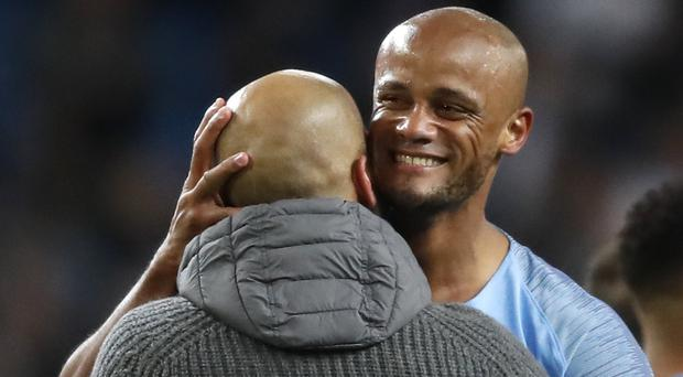 "Former Manchester City captain Vincent Kompany says Pep Guardiola is ""truly the best"" (Martin Rickett/PA)"