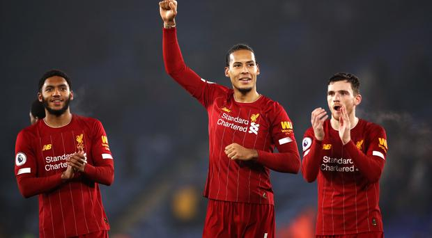 Virgil van Dijk (centre) insists Liverpool can only focus on the next match (Tim Goode/PA)
