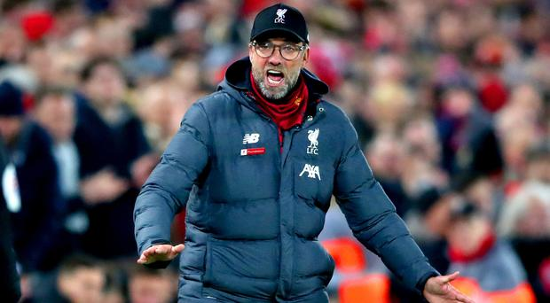 Jurgen Klopp wants his Liverpool side to keep fighting for points as they edge to a first Premier League title (Nick Potts/PA)