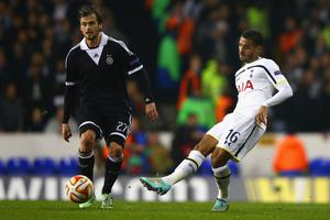On the move: Kyle Naughton will complete a switch from Tottenham Hotspur to Swansea later this week