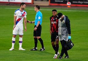 King had to limp off during the 2-0 defeat (Will Oliver/NMC Pool/PA)