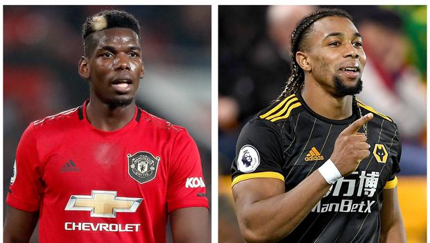 Paul Pogba, left, and Adama Traore have been mentioned in the newspapers (Martin Rickett/Joe Giddens/PA)