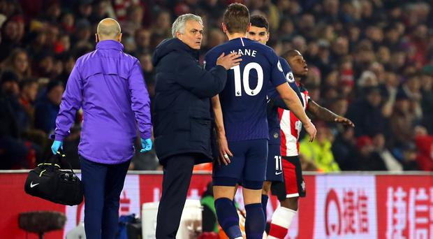 Harry Kane had surgery to repair a ruptured tendon in his hamstring on Saturday (Mark Kerton/PA)