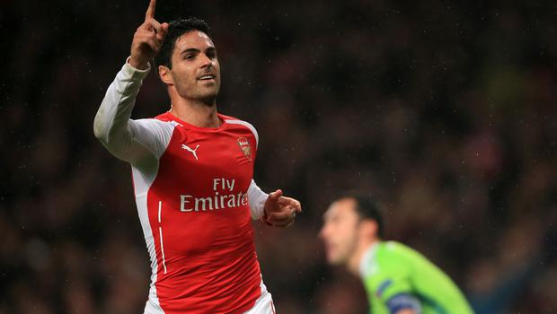 Former Arsenal man Mikel Arteta was expected to return