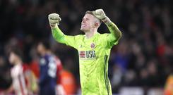 Dean Henderson has been involved with the England squad during his time at Sheffield United and Blades boss Chris Wilder thinks other players could follow (Martin Rickett/PA)