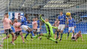 Danny Welbeck's goal denied Sheffield United victory at Brighton. (Mike Hewitt/PA)
