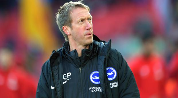 Graham Potter leads Brighton into a clash with bitter rivals Crystal Palace for the first time (Anthony Devlin/PA)