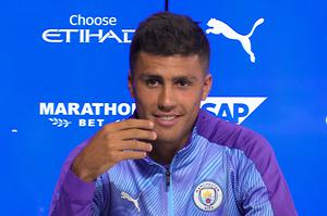 Rodri honed his English skills as a youngster in the United States (Andy Hampson/PA)
