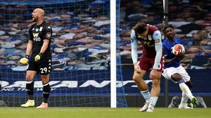 Aston Villa are in serious jeopardy after Everton scored a last-minute equaliser (Clive Brunskill/NMC Pool)