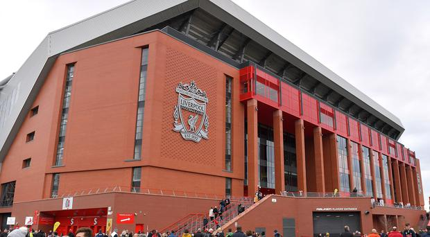 Anfield will host the top-of-the-table clash between Liverpool and Manchester City (Dave Howarth/PA)