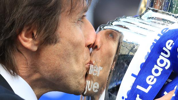 Antonio Conte won the Premier League title in his first season as Chelsea head coach