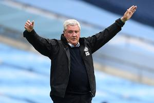 Newcastle manager Steve Bruce saw his side well beaten at the Etihad Stadium (Michael Regan/NMC Pool/PA)