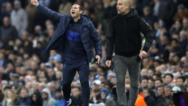 Frank Lampard (left) returned to Manchester City as manager of Chlelsea (Martin Rickett/PA)