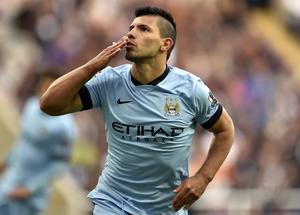 Manchester City striker Sergio Aguero became the greatest overseas goalscorer in the history of the Premier League (Owen Humphreys/PA)