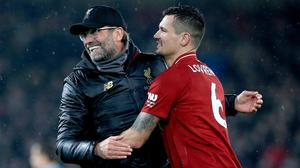 Liverpool manager Jurgen Klopp says Dejan Lovren still has an important part to play at the club (Peter Byrne/PA)
