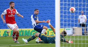 Neal Maupay snatched a late winner (Mike Hewitt/NMC Pool/PA)