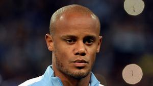 Manchester City's Vincent Kompany was reportedly on a plane which failed to take off