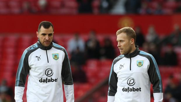 Dean Marney (left) and Scott Arfield (right) will leave Burnley after Sunday's game
