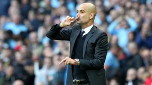 Manchester City boss Pep Guardiola is hoping to beat his former club Barcelona
