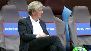 Crystal Palace manager Roy Hodgson believes the strongest possible punishment should be handed to the person who racially abused Wilfried Zaha on social media (Tim Keeton/NMC Pool)