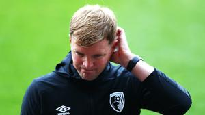 Eddie Howe said his players must ignore the negativity around them in the fight for survival (Michael Steele/NMC Pool/PA)