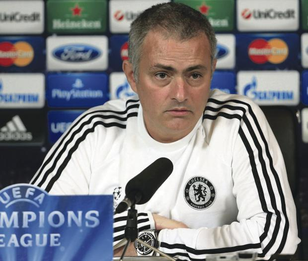 COBHAM, ENGLAND - DECEMBER 10: Manager Jose Mourinho talks to the media during the Chelsea FC Training press conference ahead of tomorrow's UEFA Champions League match against FC Steaua Bucuresti on December 10, 2013 in Cobham, England. (Photo by Richard Heathcote/Getty Images)