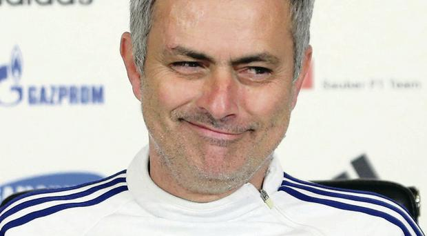 On guard: Jose Mourinho insists every team is a potential banana skin when it comes to playing in the Premier League