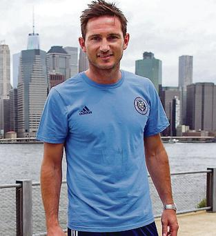 New surroundings: Frank Lampard takes in the New York scenery