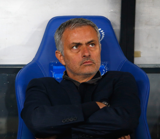 Not sitting comfortably: Jose Mourinho faces a crunch clash with Liverpool this weekend