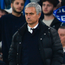 Quiet man: Jose Mourinho was unusually muted during game