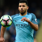 Ruled out: Sergio Aguero faces a spell on the sidelines after taxi crash