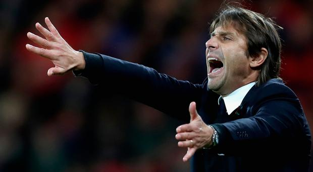 Clear aim: Antonio Conte wants his Blues to show fight