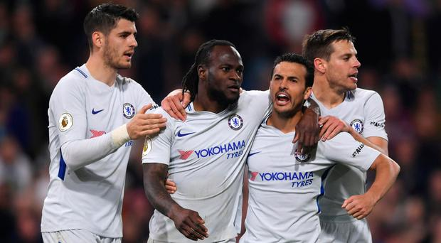 Decisive say: Victor Moses is congratulated after his match winner
