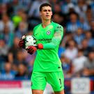 Solid debut: New boy Kepa Arrizabalaga kept clean sheet