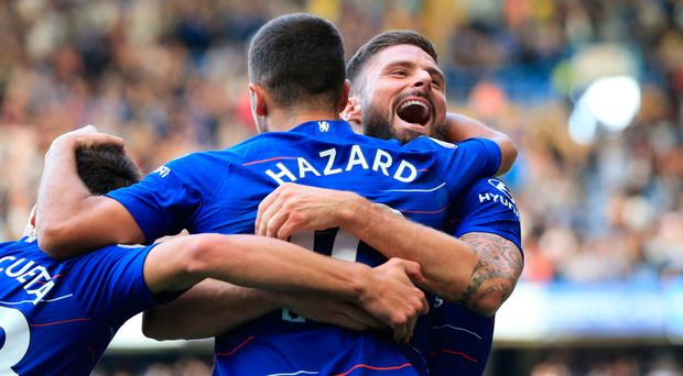 Chelsea's Maurizio Sarri to rotate Alvaro Morata, Olivier Giroud over long season