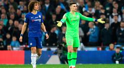Kepa Arrizabalaga of Chelsea refuses to be substituted