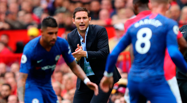 Gearing up: Chelsea boss Frank Lampard encourages his stars