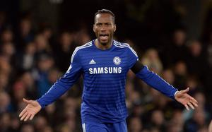 Still going: Didier Drogba scored for Chelsea