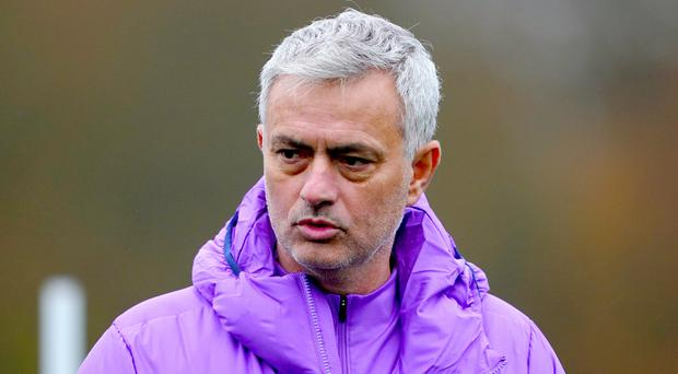 Jose Mourinho hopes Tottenham will benefit from a full week of training for the first time since taking charge of the club (Tess Derry/PA)