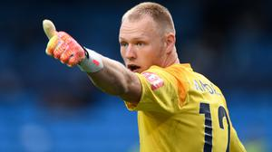 A thumbs-up from Aaron Ramsdale, pictured, on a move back to Sheffield United has led to Bournemouth agreeing a transfer fee with the Blades (Peter Powell/NMC Pool)