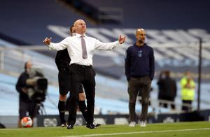 Burnley manager Sean Dyche had limited options at the Etihad Stadium (Martin Rickett/PA)