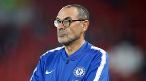 Chelsea head coach Maurizio Sarri says Manchester United have the best Premier League players and that Jose Mourinho will win again (Martin Rickett/PA Images)