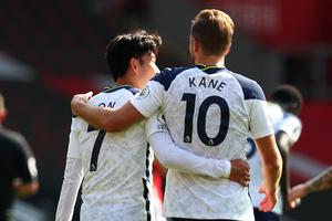 Son Heung-min and Harry Kane linked well on the south coast (Catherine Ivill/PA)