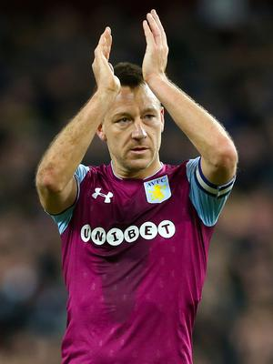 Aston Villa's John Terry has a shot at re-joining the Premier league (Nigel French/PA)