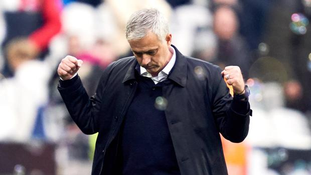 Jose Mourinho's Tottenham edged West Ham in his first match in charge (John Walton/PA)