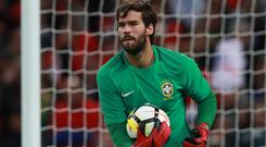 Alisson was Brazil's first-choice goalkeeper at the World Cup (Mike Egr)