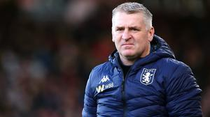 Aston Villa manager Dean Smith has them on the brink of safety. (Mark Kerton/PA)