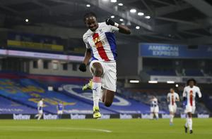 Jean-Philippe Mateta celebrates scoring Crystal Palace's first goal of the game (Frank Augstein/PA)