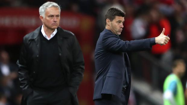 Jose Mourinho, left, has been speaking about his predecessor Mauricio Pochettino, right (Nick Potts/PA)
