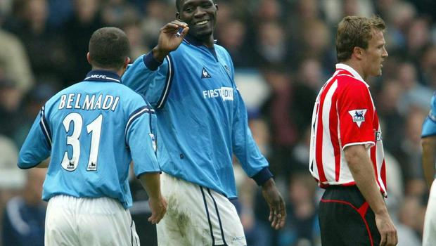 Marc-Vivien Foe, centre, is fondly remembered at Manchester City and West Ham (Jon Super/PA)